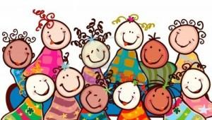 12428605-enfants-heureux-avec-des-visages-souriants